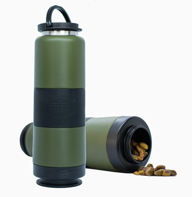 Dual Chamber Water Bottle - Evergreen