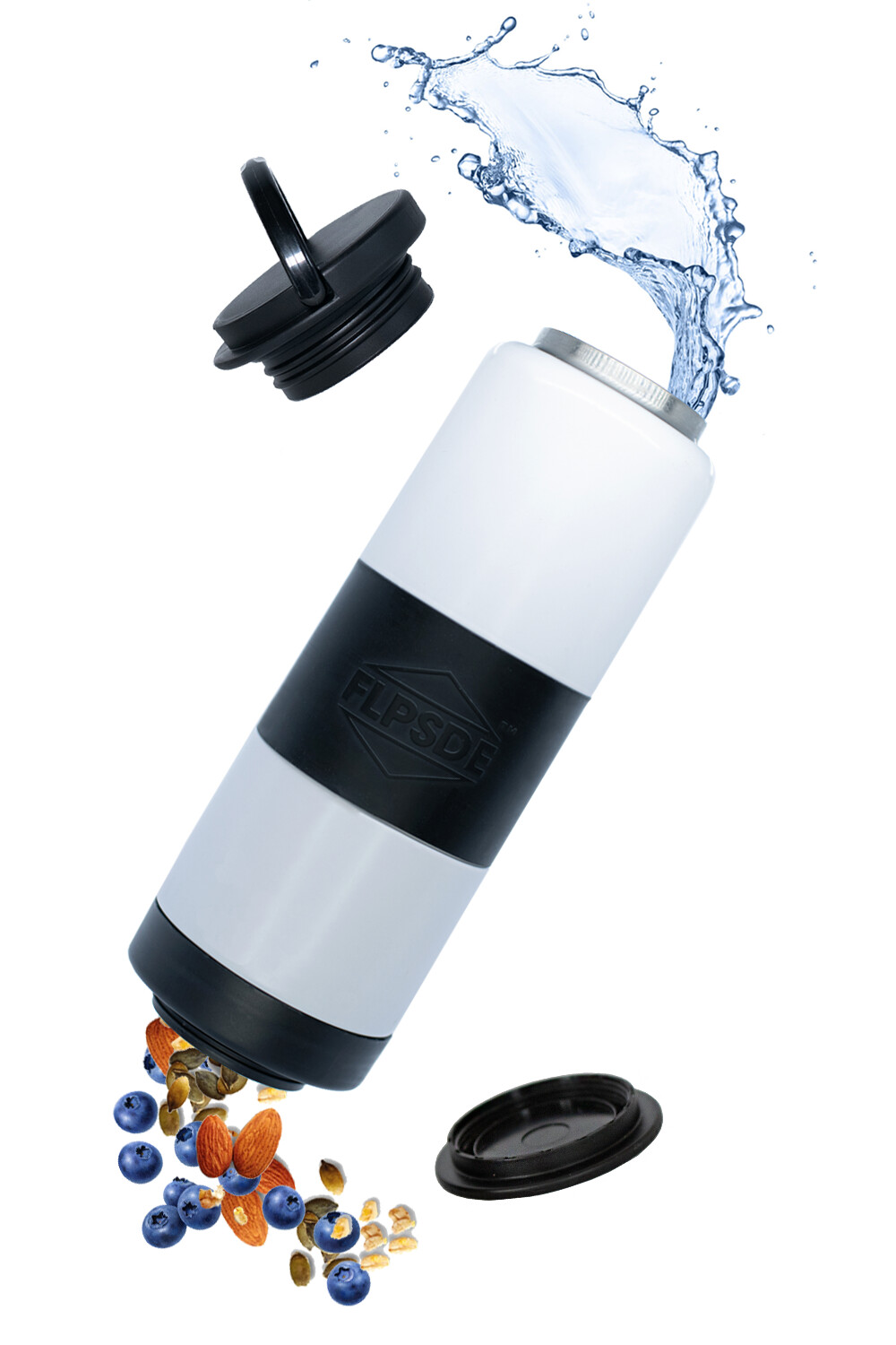 Dual Chamber Water Bottle - Orca