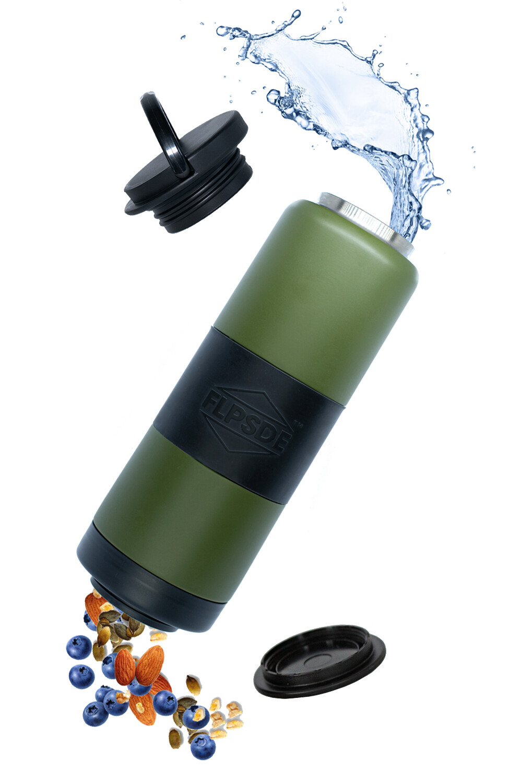 Dual Chamber Water Bottle - Evergreen