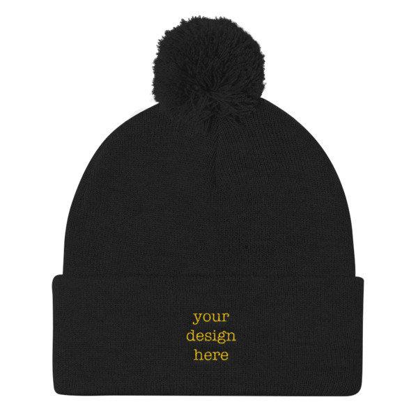 Customizable Pom Pom Knit Cap