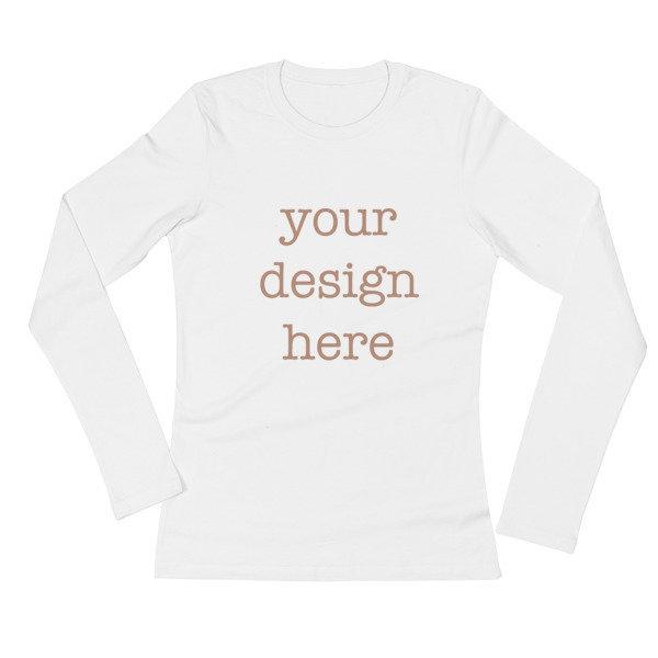 Customizable Ladies' Long Sleeve T-Shirt