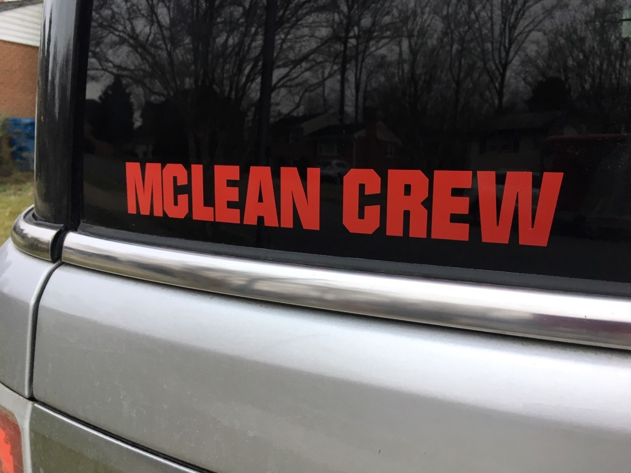 McLean Crew Car Sticker