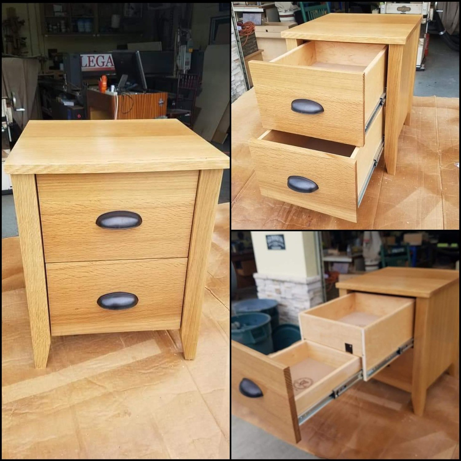 Secret Compartment Bedside/End Table w/ RFID Lock System