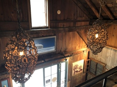 Pair of Vine Chandeliers Lighting