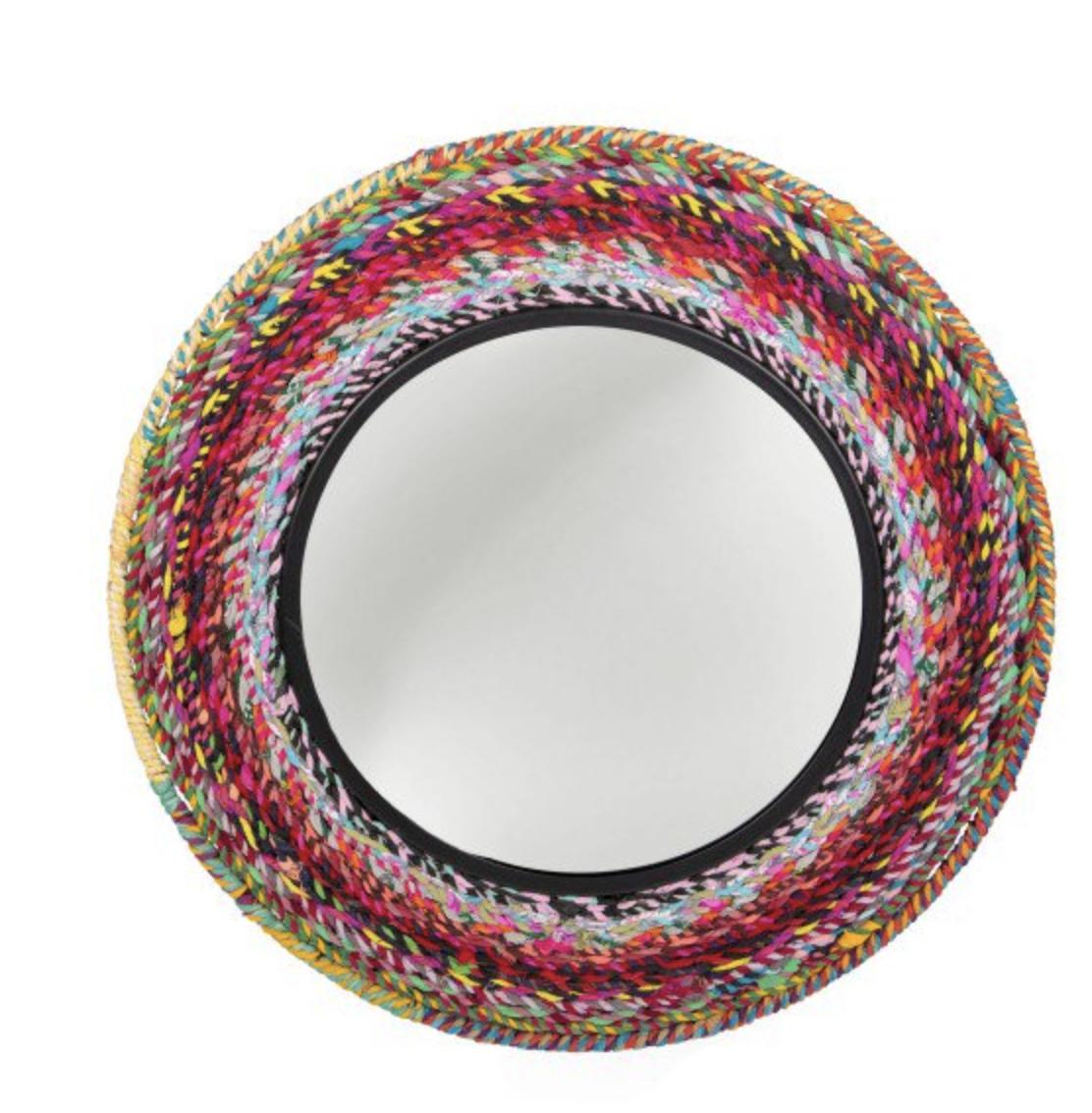 Upcycled Rainbow Mirror