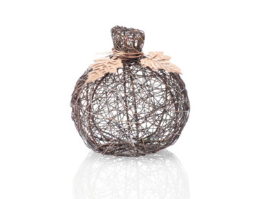 Copper Small Wire-Wrapped Pumpkin
