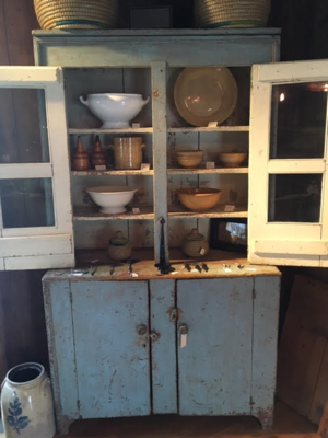 19th century Cantback Cupboard w/original paint