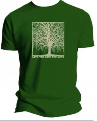 Woodblock Bamboo SHORT SLEEVE TEE/WOMANS