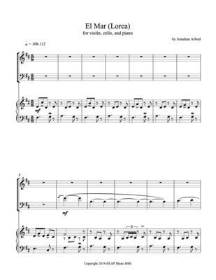 """""""El Mar (Lorca),"""" (Alford) for piano trio (pdf)"""