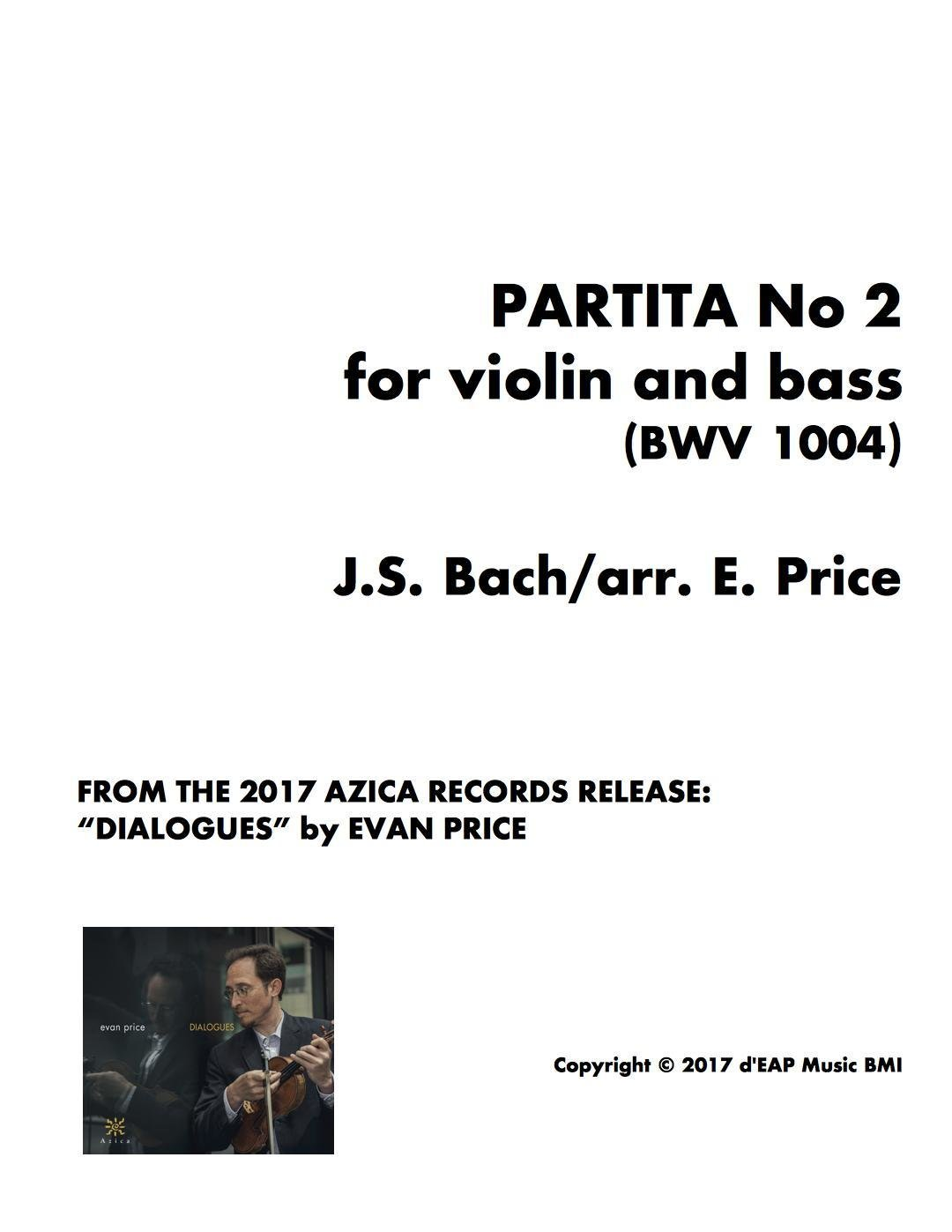 Partita No 2 for violin and bass (BWV 1004)