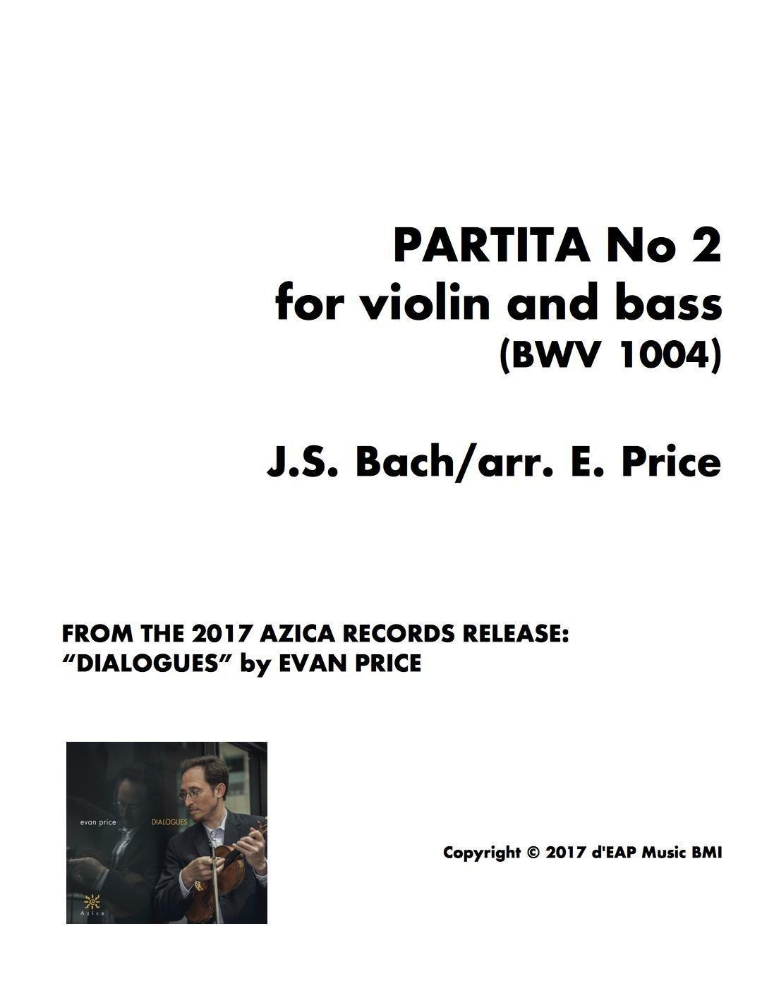 Partita No 2 for violin and bass/cello (BWV 1004) (pdf)