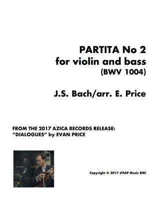Partita No 2 for violin and bass/cello (BWV 1004) (pdf)