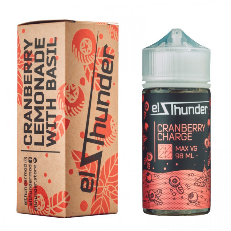 EL THUNDER: CRANBERRY CHARGE 98ML 0MG