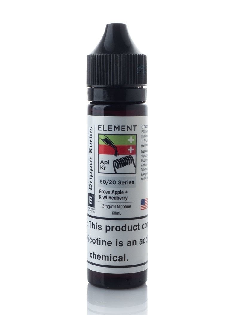 ELEMENTS EMULSIONS: GREEN APPLE + KIWI REDBERRY 60ML 0MG