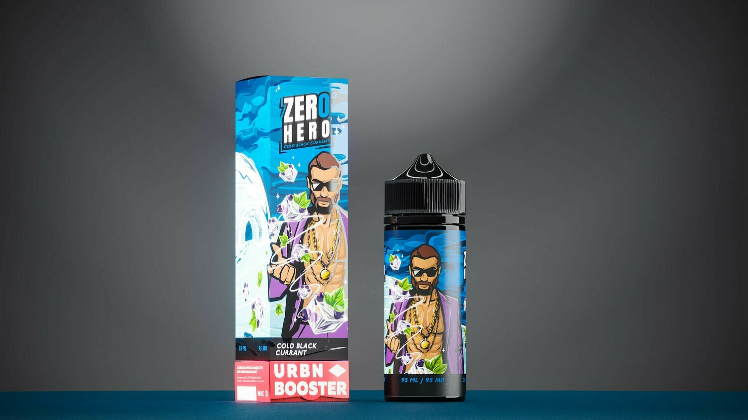 ZERO HERO BY URBN: COLD BLACK CURRANT 95ML 0MG