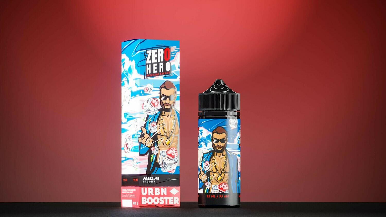 ZERO HERO BY URBN: FREEZING BERRIES 95ML 0MG