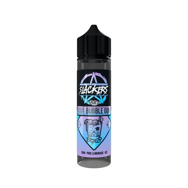 SLACKERS BY BILL'S E-lIQUID: COLD FIZZY BUBBLEGUM 60ML 0MG