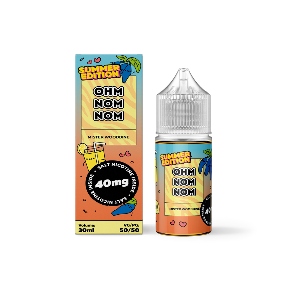 OHMNOMNOM SUMMER EDITION: MISTER WOODBINE SALT 30ML 40MG