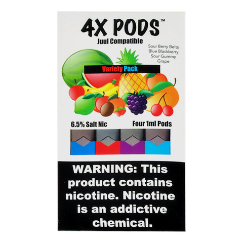 4X PODS FOR JUUL: VARIETY PACK