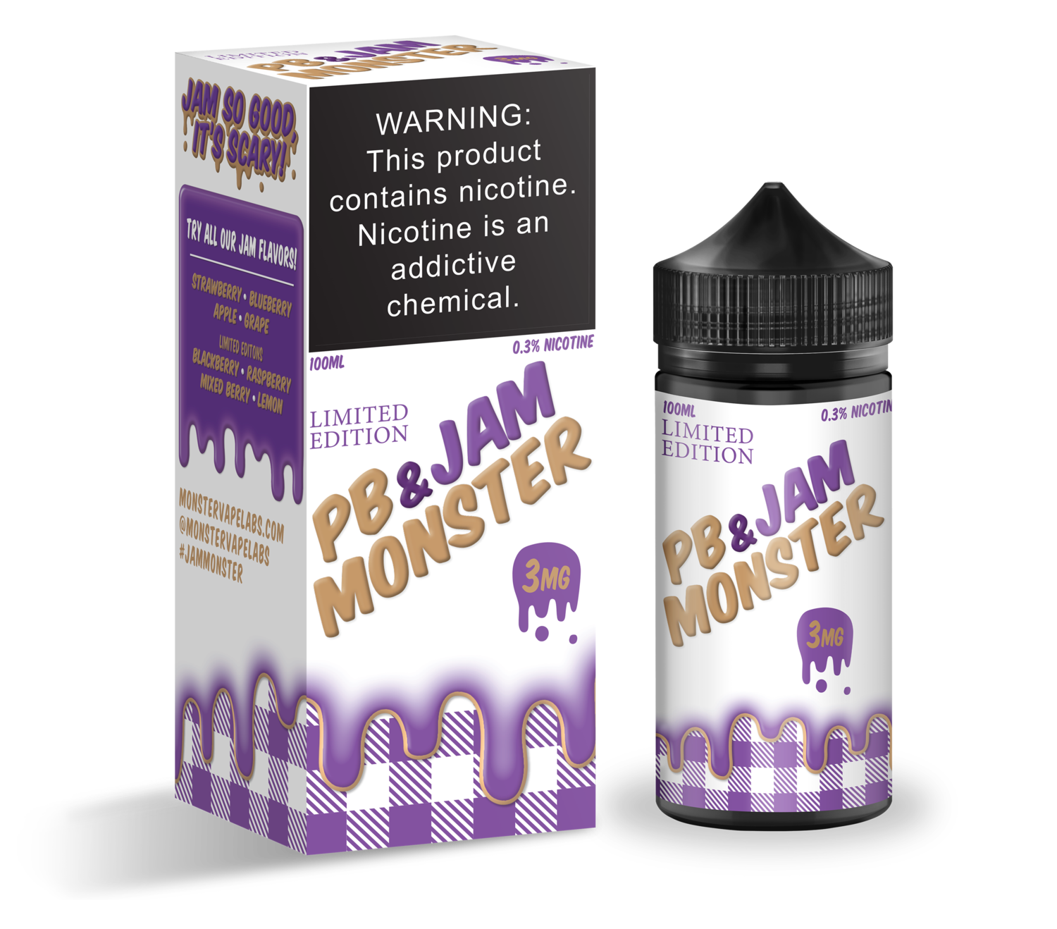 JAM MONSTER PB & JAM: GRAPE 100ML 3MG