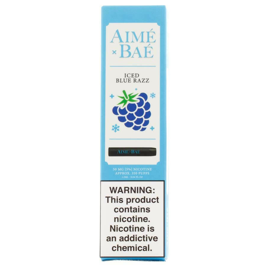 AIME X BAE DISPOSABLE POD: ICED BLUE RAZZ 50MG