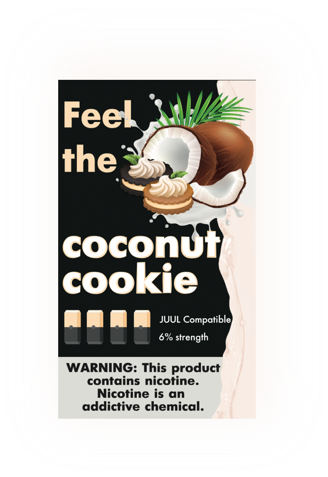 FEEL THE FLAVOR: СМЕННЫЙ КАРТРИДЖ ДЛЯ JUUL COCONUT COOKIE 60MG