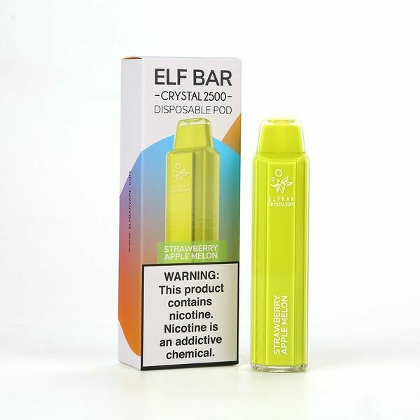 ELF BAR CRYSTAL 2500: STRAWBERRY APPLE MELON