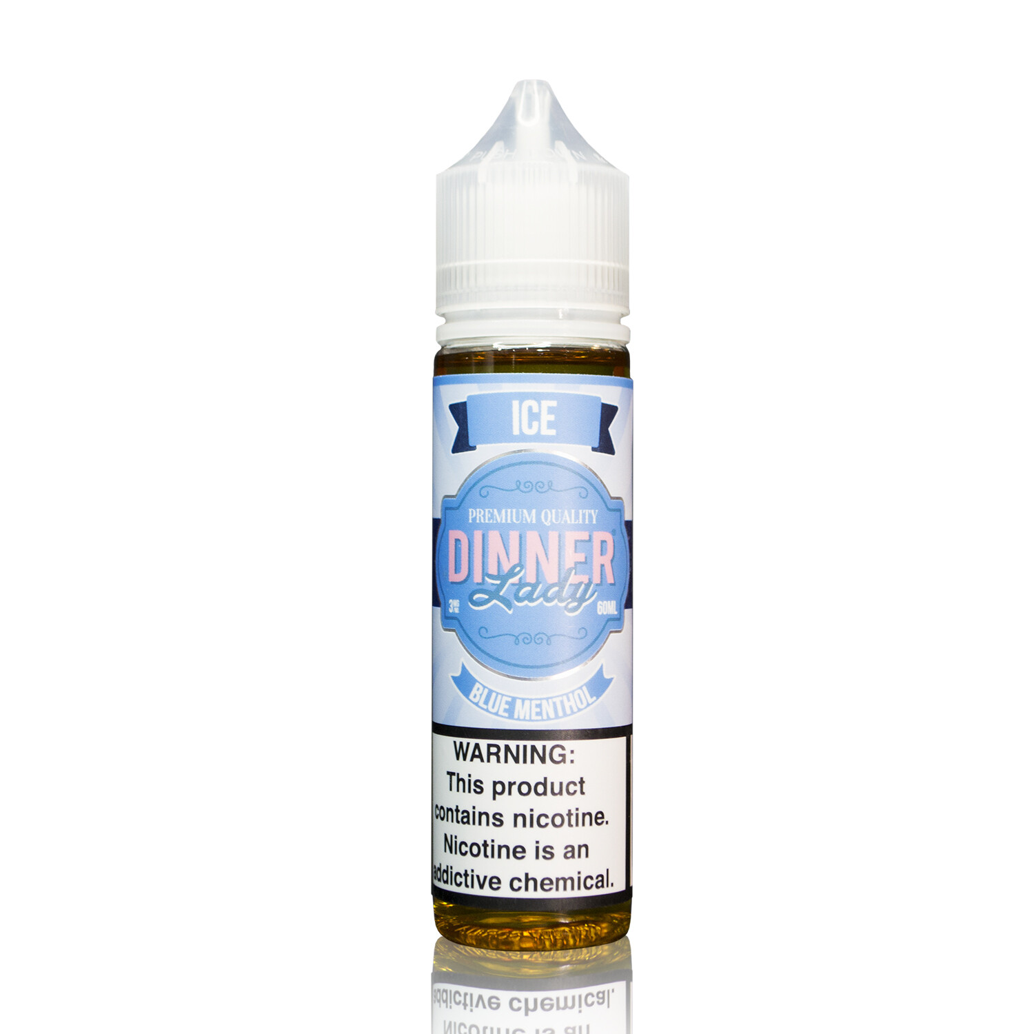 DINNER LADY ICE: BLUE MENTHOL 60ML 3MG