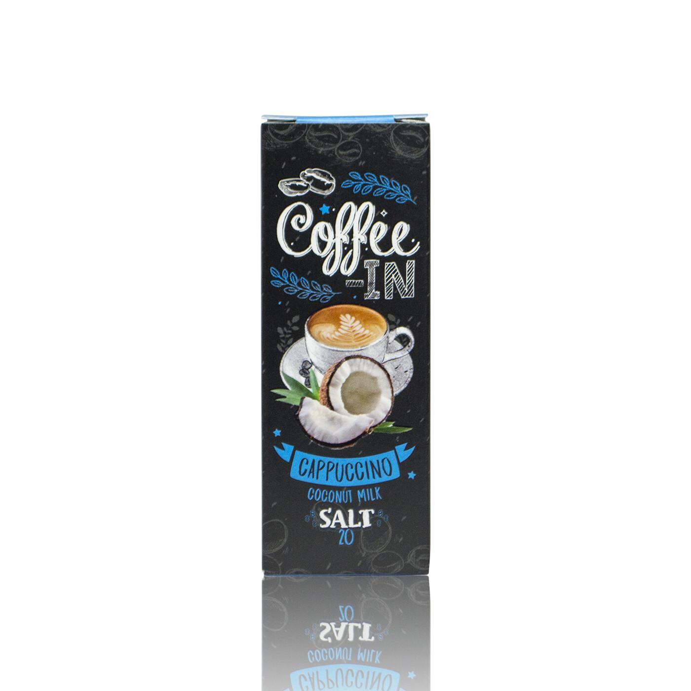 COFFE-IN SALT: CAPPUCHINO COCONUT MILK 20MG STRONG