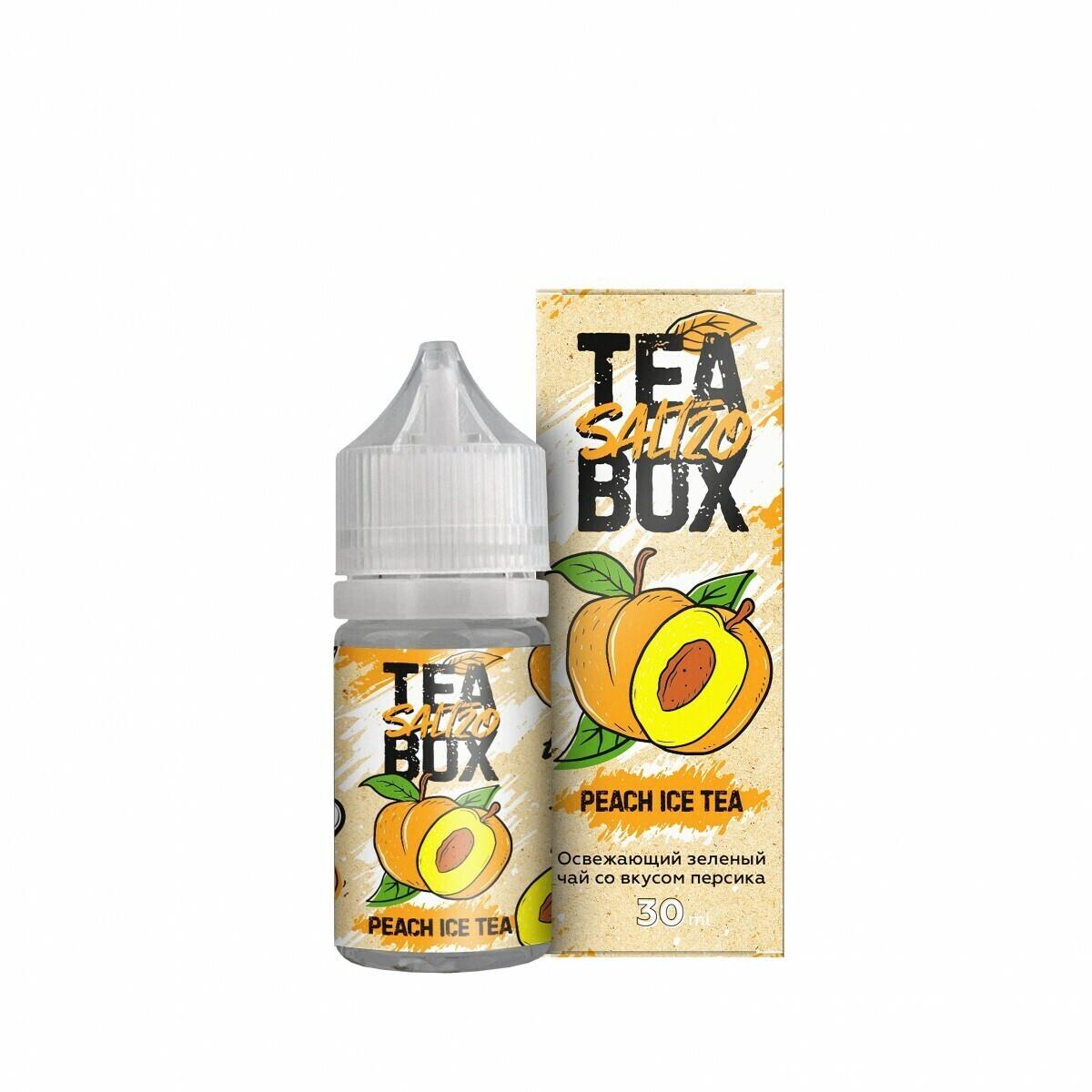 TEA BOX SALT: PEACH ICE 30ML 20MG STRONG