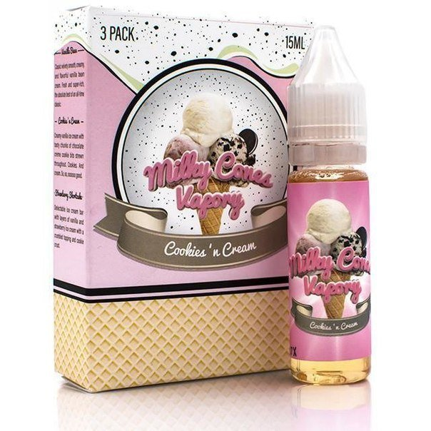 MILKY CONES VAPORY:COOKIES N CREAM 45ML 0MG