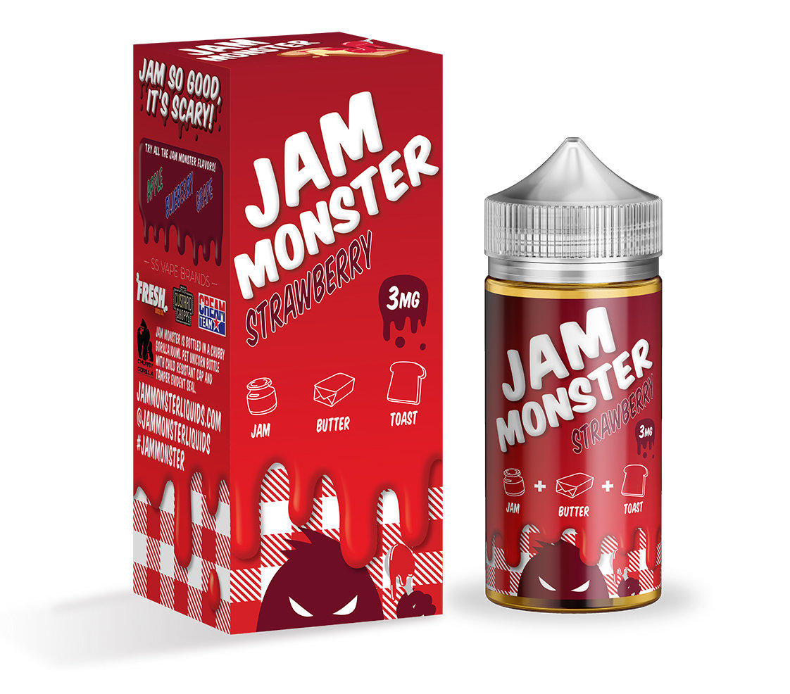 JAM MONSTER: STRAWBERRY 100ML 3MG