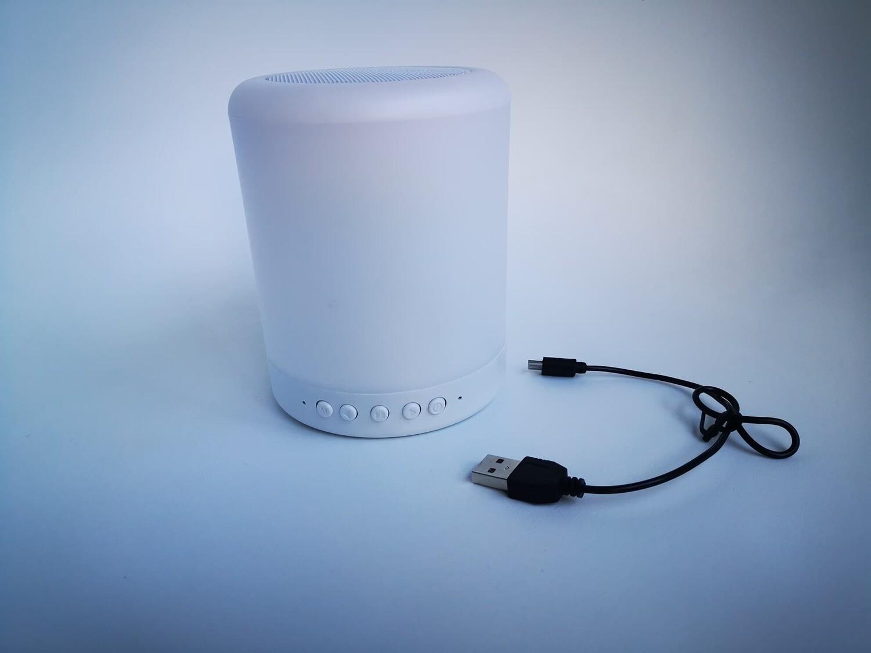 Bocina Audioritmca Bluetooth 3.5 Auxiliar Micro SD V8 Pc Blanca