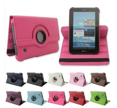 Funda Rotativa Cuero Samsung Galaxy Tab 2 7.0 GT P3100 P3110 P3113 Tablet 7