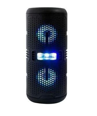 Bocina Cilindrica Bluetooth 3 Pulgadas X2 Luz Led Fm