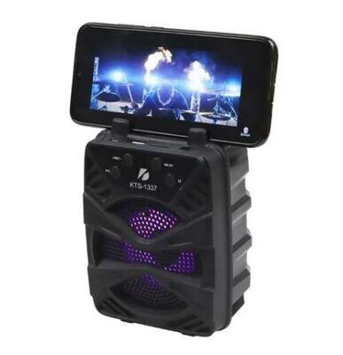 Bocina Bluetooth 3″ KTS-1337 con Soporte para Celular