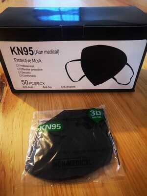 KN95 (NOM-MEDICAL) 50 PIEZAS NEGRO