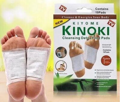 Parche Desintoxicante Para Pie Cuerpo Kinoki Bambu 10 pzas.