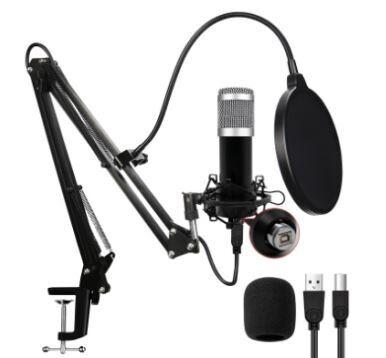 Microfono Profesional Condensador USB PC Laptop Gamer Youtuber con Brazo