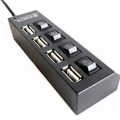 HUB USB 4 PUERTOS CON SWITCH