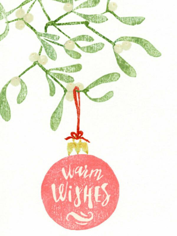 Postkarte Warm Wishes