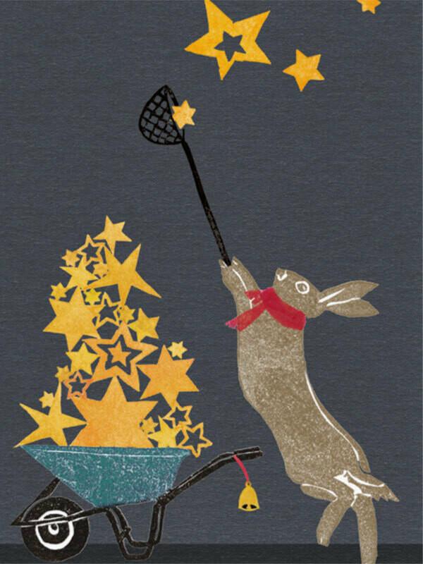 Postkarte Sternenhase
