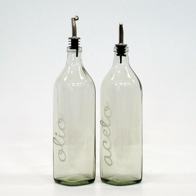 Olio- und Aceto-Flaschen