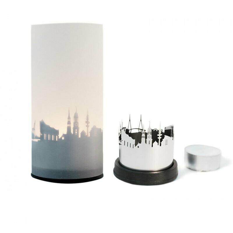 Stadtlicht - Teelicht mit Schattenwurf