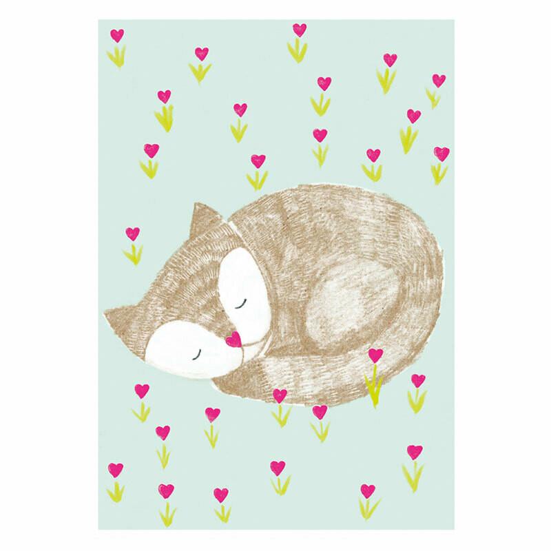 Postkarte Katze