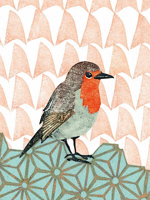 Postkarte Rotkehlchen