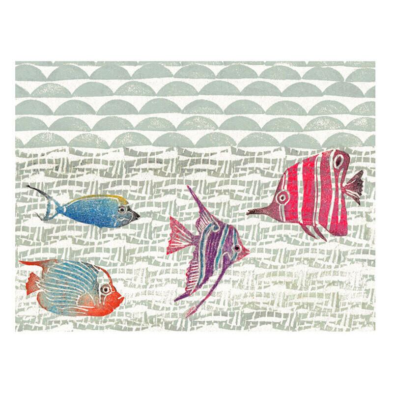 Postkarte Fische