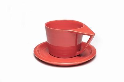Filiżanka cappuccino, koralowa, 250 ml