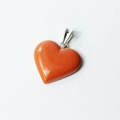 Wisiorek serce pomarańczowe