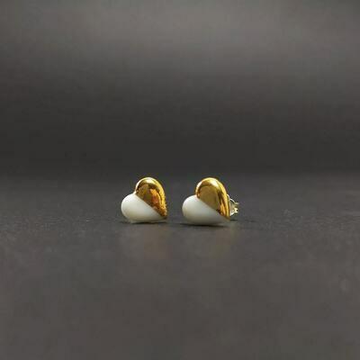 Kolczyki, serduszka złocone